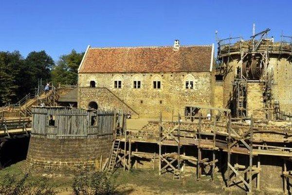 Le chantier de Guédelon dans l'Yonne