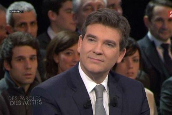 Arnaud Montebourg sur le plateau de France 2