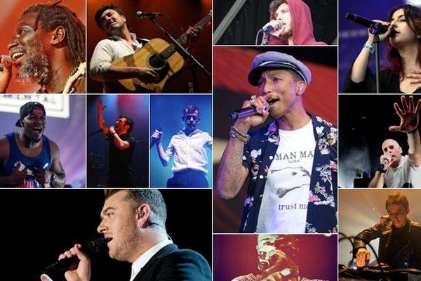 Douze artistes se succéderont sur les deux scènes du Main Square Festival ce dimanche, avec Pharrell Williams en tête d'affiche.