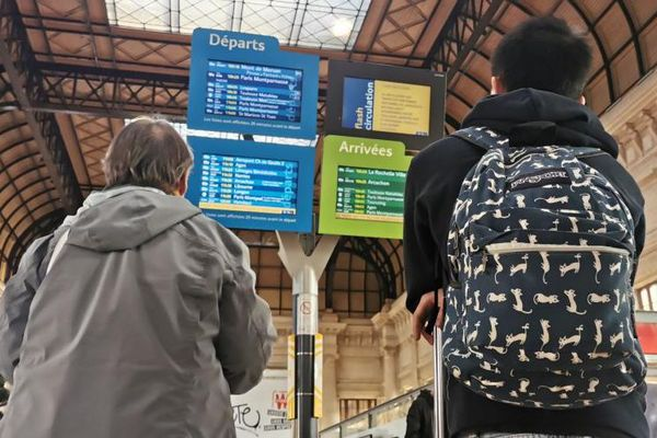 Mardi 29 octobre, 3 TGV sur 10 circuleront sur la façade atlantique, comme aujourd'hui.