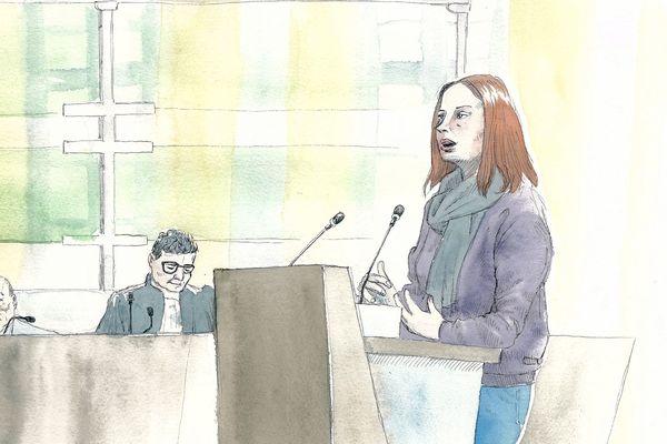 La compagne actuelle de Willy Bardon lors du procès de ce dernier, le 22/11/2019