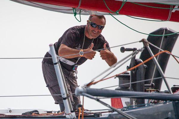 L'année dernière, il avait gagné. Mais cette fois-ci, le skippeur médocais a surtout voulu bien prendre en main son Multi 50 Arkema avant la Route du Rhum, son objectif principal.