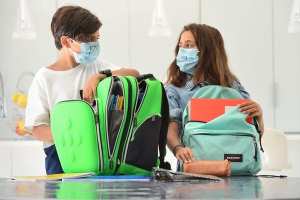 Une rentrée scolaire avec un masque !