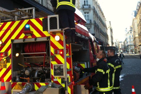 Pompiers du centre de secours de Rennes