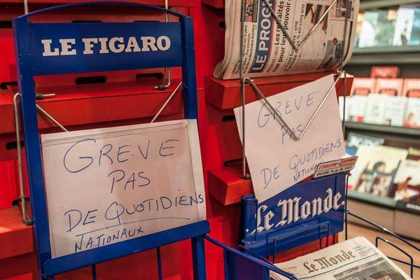 Les marchands de journaux lyonnais ne reçoivent plus de presse nationale depuis plus d'un mois