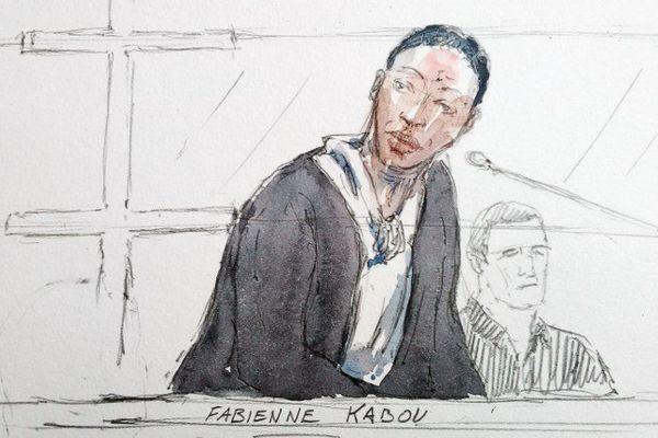 Représentation de Fabienne Kabou, ce lundi devant la cour d'assises du Pas-de-Calais à Saint-Omer.