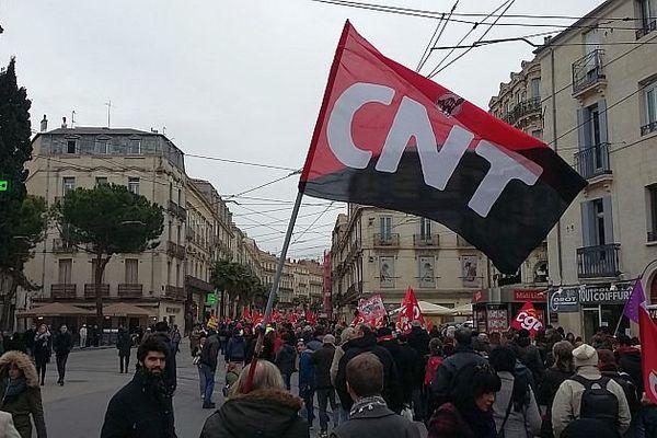 Montpellie,  manifestation contre la loi Travail - 9 mars 2016.