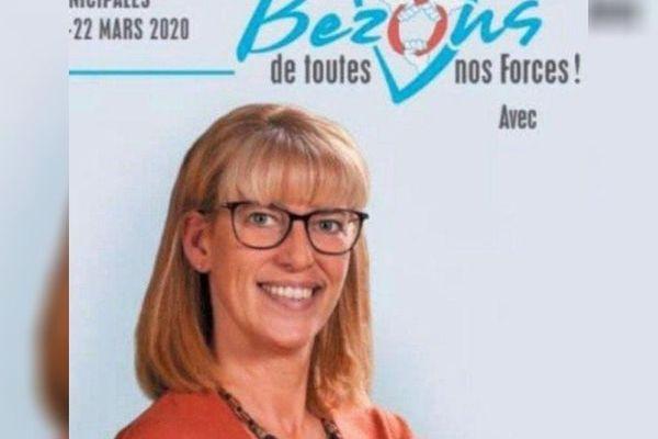 Affiche de campagne de Sophie Stenström, candidate dans la ville de Bezons (Val d'Oise).