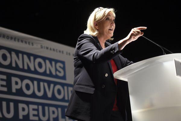 Marine Le Pen, à la tête du Rassemblement National, arrivé premier dans toute la région.