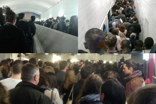 La foule bloquée dans les couloirs du RER A, le 25 mai 2016 : les témoignages des internautes.