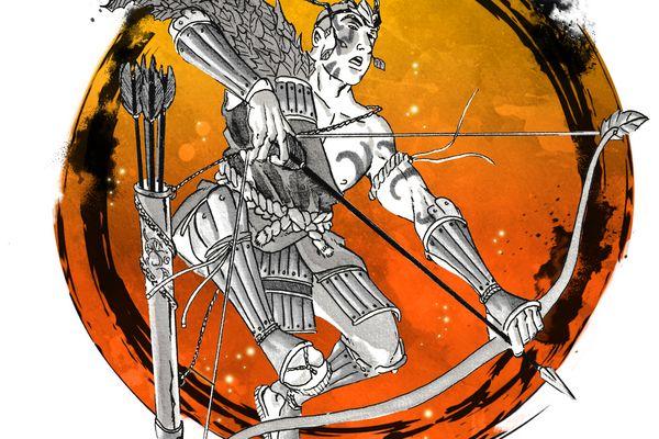 Couverture de l'album Buichi, l'Incandescent, quatrième tome des Chroniques des Mille cascades