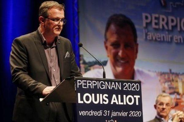Louis Aliot en meeting pour les municipales, le 31 janvier 2020.