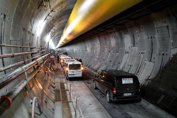 Le chantier du tunnel Lyon-Turin à Saint-Martin-la-Porte (Savoie), le 1er février 2019.