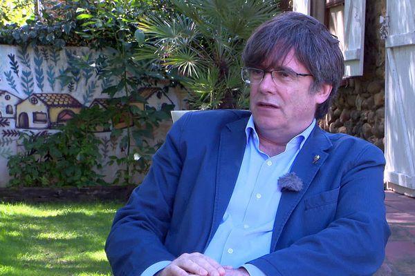 Pyrénées-Orientales - Carles Puigdemont, député européen espagnol - septembre 2020.