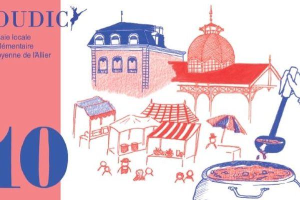 L'un des billets en monnaie locale de l'Allier, le Soudicy, disponible en juin 2019