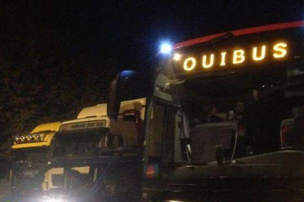 Photo prise par Sefana, une passagère du Ouibus dans la nuit du jeudi 22 octobre.