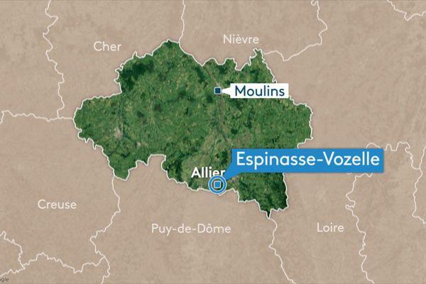 Jeudi 24 octobre, deux personnes ont été blessées dans un accident de la route à Espinasse-Vozelle, près de Vichy, dans l'Allier.