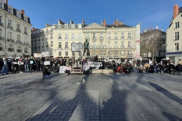 Manifs des restaurateurs, cafetiers ou encore patrons de discothèques le 30 novembre 2020 à Nantes