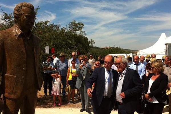 Maxime Le Forestier a participé à l'inauguration de la statue de Brassens