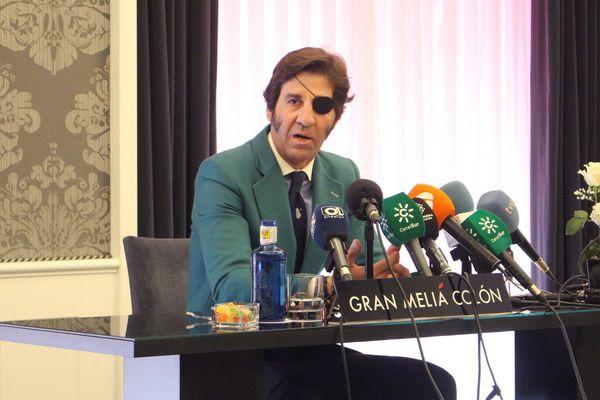 Juan José Padilla, très ému ce vendredi lors de la conférence de presse où il annonçait sa retraite prochaine.
