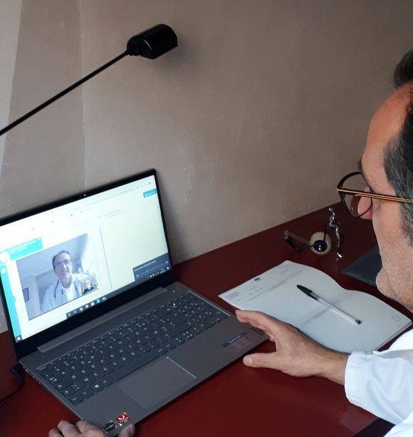 Alexandre Feltz, généraliste à Strasbourg, en téléconsultation