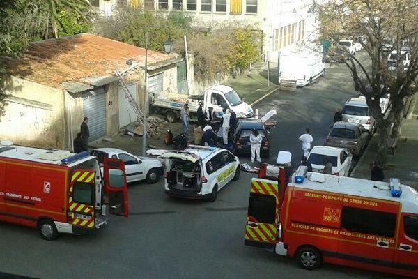 22/01/15 - Accident de chantier à Ajaccio