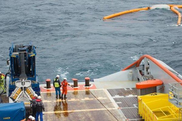 Traitement de la pollution maritime par le BSAA Argonaute