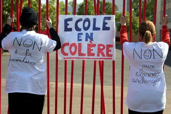 Mobilisation contre une fermeture d'école à Yutz, en Moselle - Photo d'illustration