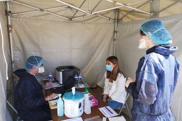 Centre de dépistage Covid-19, Nantes, le 2 septembre 2020