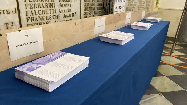 Les quatre listes en lice au deuxième tour des élections territoriales en Corse.