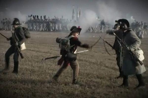 Images de la reconstitution de la bataille d'Austerlitz, décembre 2015