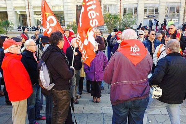 Montpellier - manifestation des retraités - 24 novembre 2015.