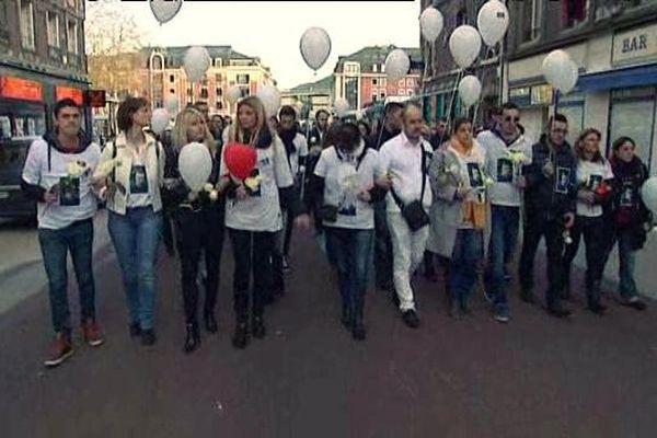 La marche en hommage au jeune infirmier en pédiatrie le 27 décembre 2015 à Rouen