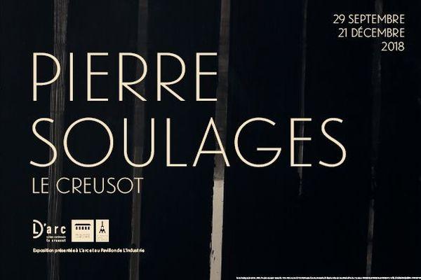 Affiche de l'exposition Pierre Soulages au Creusot
