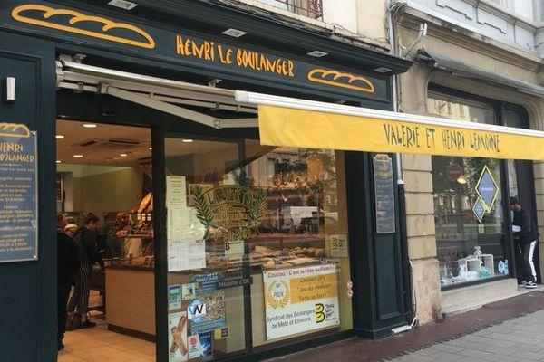 La boulangerie d'Henri et Valérie Lemoine à Metz (Moselle).