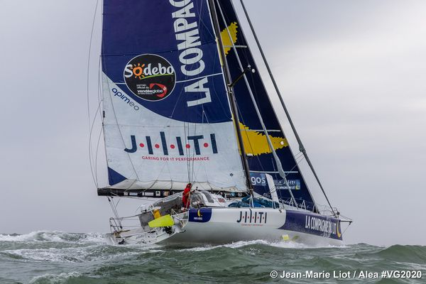 """Un départ """"à l'arrache"""" comme disent les marins, mais une aventure hors du commun pour Clément Giraud sur ce Vendée Globe 2020."""