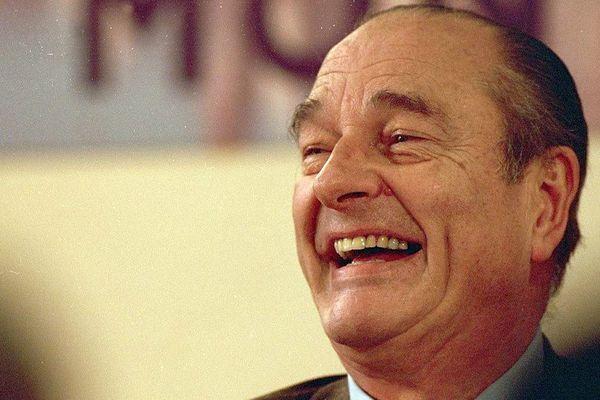 Jacques Chirac, lors d'une visite à Montauban en 2002