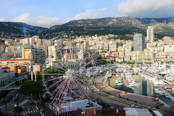 Vue de Monaco prise du rocher en janvier 2019.