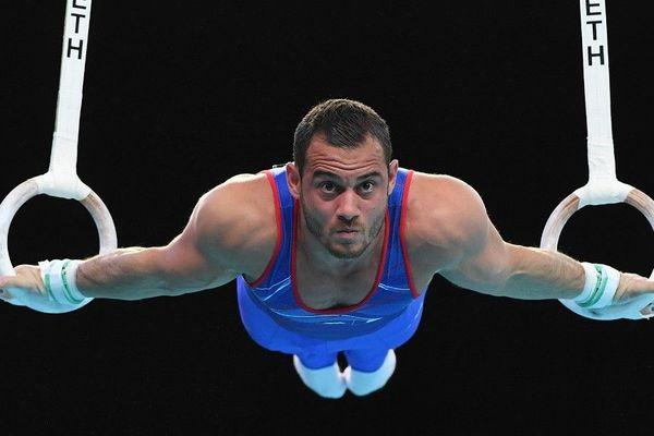 Samir Aït Said, en avril 2019, lors des championnats d'Europe de gymnastique artistique, à Szczecin, en Pologne.