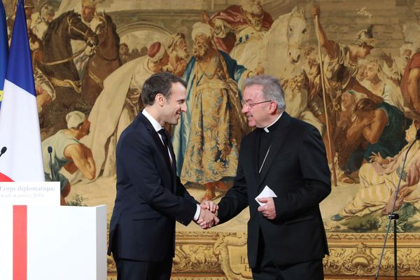 Le nonce apostolique Luigi Ventura lors des vœux au corps diplomatique, le 4 janvier 2018.