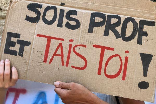 Montpellier - manifestation des personnels correcteurs du bac devant l rectorat - 4 juillet 2019.