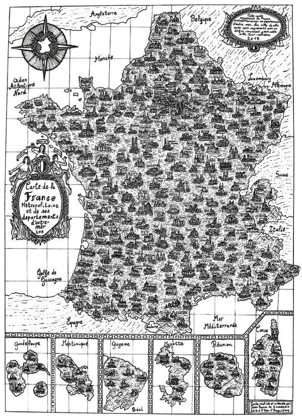 Voici le résultat de la carte de France de Pablo.