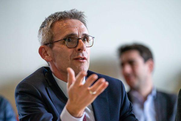 Stéphane Troussel, le président socialiste sortant du conseil départemental de la Seine-Saint-Denis réélu dans son canton de la Courneuve dimanche soir.
