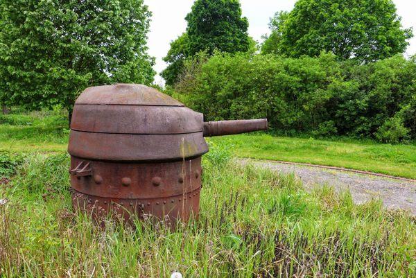 La tourelle blindée du soldat Beaulieux à Fresnes-sur-Escaut.