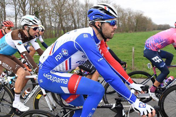 Le coureur cycliste de Mélisey, en Haute-Saône, Thibaut Pinot a terminé à la cinquième place du Paris-Nice 2020.