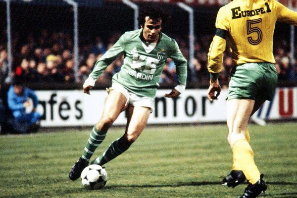 Michel Platini en 1982 lors d'un match FC Nantes - AS Saint-Etienne.