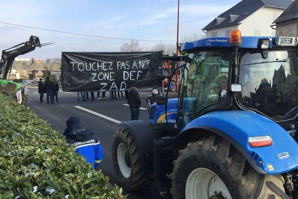 Blocage des agriculteurs à Bozouls