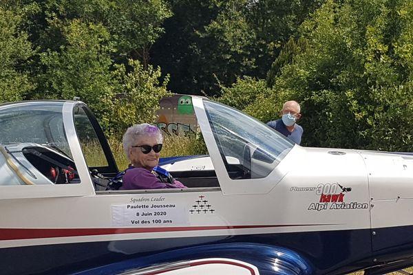 Gilles a emmené Paulette pour un vol de 3/4 d'heure.
