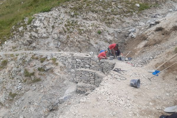 Le sentier Roya-Bévera après les travaux.