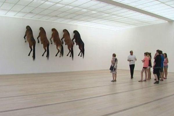 Ces chevaux sont des oeuvres uniques, c'est la première fois qu'ils sont exposés ensemble